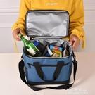 保冷袋 飯盒袋保溫手提袋 防水便當包 釣魚旅行牛津布特大號帶飯包【果果新品】