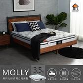 【Home Meet】莫莉九段式獨立筒床墊/單人3.5尺/H&D東稻家居