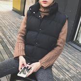 背心外套馬甲男秋冬季外套韓版潮流帥氣立領情侶棉衣羽絨棉保暖背心男加厚 美芭