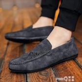 老北京布鞋男鞋子2020年春夏季新款休閒豆豆鞋一腳蹬懶人鞋印花鞋 (pinkQ 時尚女裝)