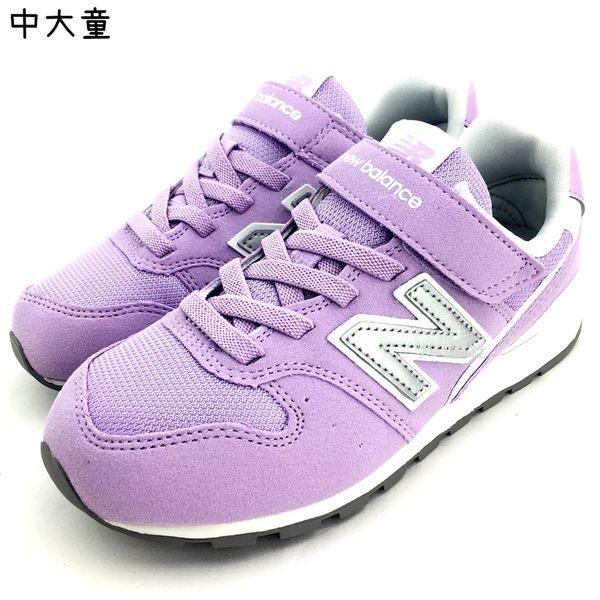 《7+1童鞋》中童 New Balance KV996BRY 透氣 麂皮 復古 休閒 運動鞋 9396 紫色