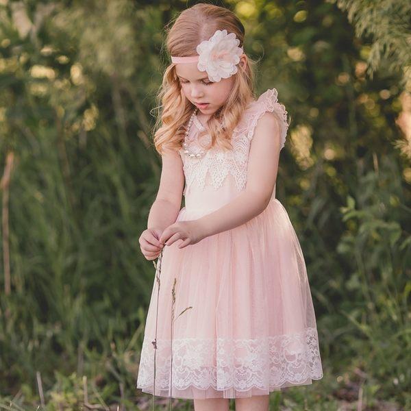★童裝大亨★ 美國MAELI ROSE 蕾絲洋裝 透膚緹花紗裙 1K15 蜜桃粉紅