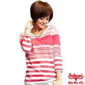 【BOBSON】女款條紋長袖上衣(33106-12)
