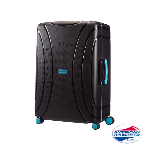 AT美國旅行者 28 吋Lock 'N' Roll PP硬殼三點式TSA鎖扣行李箱(黑)