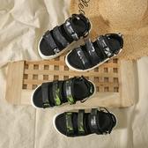 環球女鞋2020夏季新款百搭魔術貼涼鞋時尚休閑運動沙灘鞋IG熱門款潮 居享優品