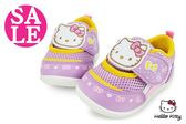 Hello kitty小童學步鞋 台灣製 柔軟透氣運動鞋G7921#紫◆OSOME奧森童鞋 零碼出清