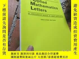 二手書博民逛書店applied罕見mathematics letters feb