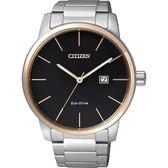 CITIZEN 光動能都會腕錶(BM6964-55E)-黑x玫瑰金框/43.8mm BM6964-55E