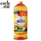 第一石鹼 日本 弱酸性濃縮洗碗精 橘子香 大容量970mL 濃縮洗碗精 洗碗 廚房清潔【JP0048】