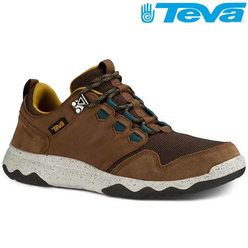 TEVA 超輕量科技大底低筒防水健走登山鞋ARROWOOD WP - 棕