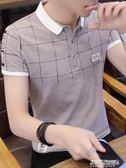 POLO衫短袖t恤 男潮流男裝修身襯衫領男士polo衫韓版半袖上衣服   傑克型男館