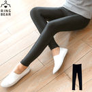 內搭褲--帥氣潮流個性休閒鬆緊腰頭超彈力絲滑薄款光澤內搭褲(黑L-3L)-R182眼圈熊中大尺碼