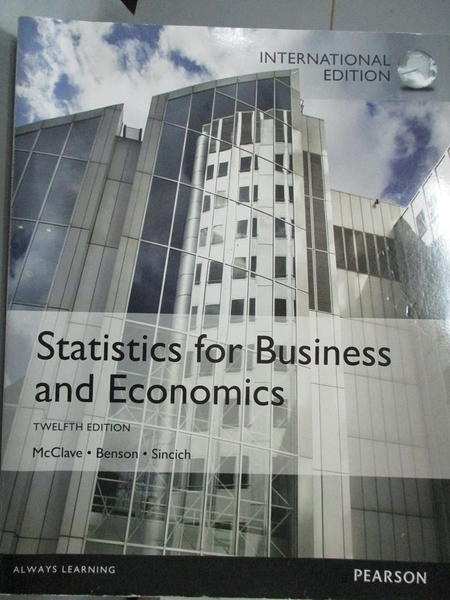 【書寶二手書T3/大學商學_PHR】Statistics for Business and Economics_McCl