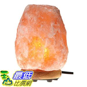 [106美國直購] WBM Himalayan Glow 1003 Hand Carved Natural Salt Lamp with Genuine Neem Wood Base