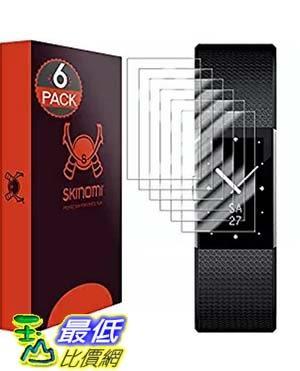 [美國直購] Skinomi 手環保護貼 Fitbit Charge 2 TechSkin Full Coverage Screen Protector for (6-Pack)