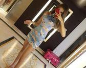 618好康又一發 夏季新款超美一字領露肩性感開叉旗袍連衣裙