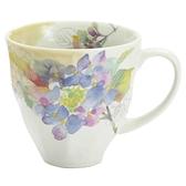 【日本製】花之岬系列 美濃燒馬克杯 紫陽花圖案 藍色(一組:3個) SD-6719 - 日本製 美濃燒