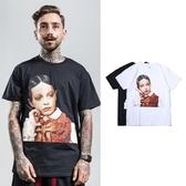 短袖T恤-人物頭像純色棉質男上衣2色73qx57【巴黎精品】