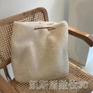 毛絨包包女冬天的第一個包包人造羊羔毛手提包購物袋大容量單肩包 【快速出貨】