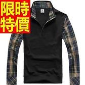 假兩件式襯衫 氣質新款-修身成熟長袖男毛衣3色59ac14[巴黎精品]