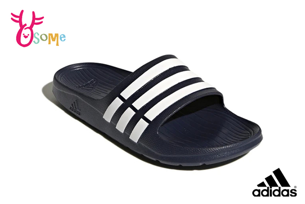 adidas 拖鞋 成人男女款 大童 全防水 經典三線設計 情侶鞋 運動拖鞋 M9392#藍色◆OSOME奧森鞋業