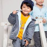 【愛的世界】防風內磨毛機器人長袖連帽外套/1~3歲-台灣製- ★秋冬外套 開運定著