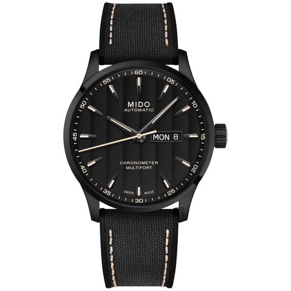 MIDO 美度 Multifort 先鋒系列80小時天文台矽游絲機械錶-黑/42mm M0384313705100