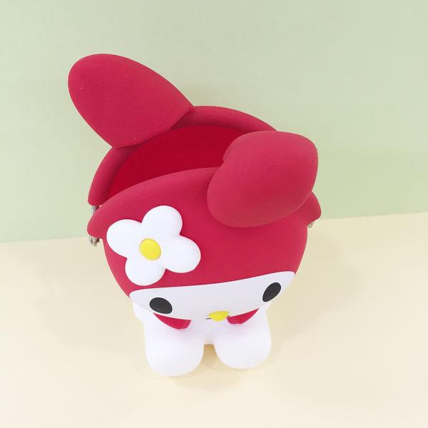 【震撼精品百貨】My Melody 美樂蒂~矽膠珠扣零錢包-整身造型-紅色