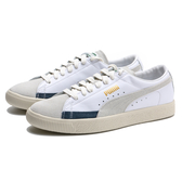 PUMA 休閒鞋 BASKET 90680 L 白灰藍 皮革 情侶鞋 男女 (布魯克林) 37207305