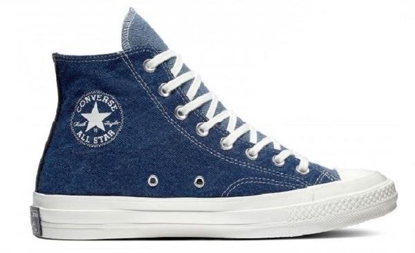 CONVERSE-CHUCK 70 牛仔黑藍拼接鞋-NO.166286C