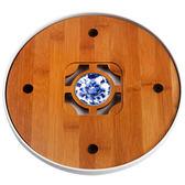 宜龍 竹茶盤 谷雨複合式瓷圓盤