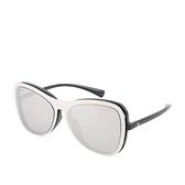 【CHANEL】磁吸式可拆卸太陽眼鏡(銀色/黑色) CH46000024 71231A S5068 3N