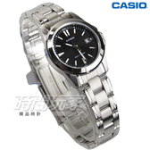 CASIO卡西歐 LTP-1215A-1A2 經典精鋼指針女錶 學生錶 防水手錶 不銹鋼 黑 LTP-1215A-1A2DF