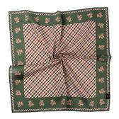 DAKS經典格紋泰迪熊100%純棉帕巾(綠色)989108-130