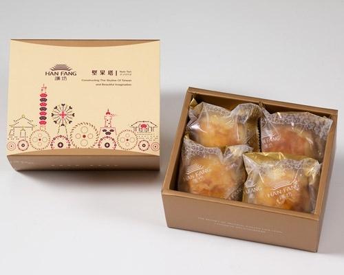 月餅/糕餅【典藏】沖繩黒糖蛋黃酥4入禮盒(蛋奶素)
