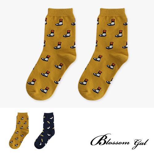 Blossom Gal KUSO生活趣味圖樣造型短襪(大丈夫日記)(共兩色)