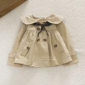 英倫風娃娃領雙排扣風衣外套 英倫 娃娃 雙排 雙排扣 風衣 外套 風衣外套