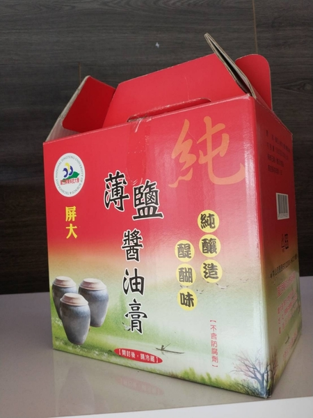 (禮盒) 屏大 非基改造薄鹽醬油膏 300mlx6瓶 屏大薄鹽醬油膏 | OS小舖