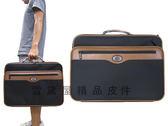 ~雪黛屋~YESON 公事包大容量可A4資夾輕旅行箱台灣製造品質保證登機箱防水尼龍布材質+皮革Y7267