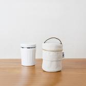 CB Japan 丹寧系列伸縮保冷手提湯袋-簡約白