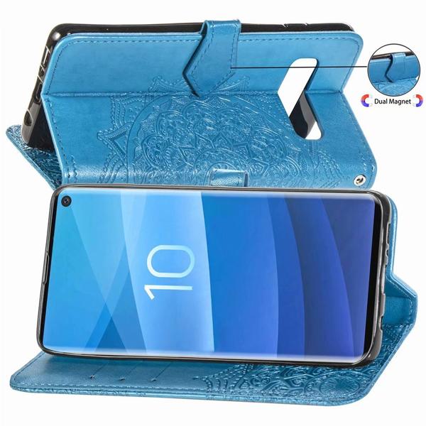 三星 S10 S10+ S10e S9 S9+ S8 Plus S8+ 曼陀羅皮套 手機皮套 壓紋 插卡 支架 磁扣 掀蓋殼 保護套