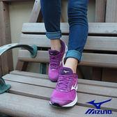 MIZUNO WAVE RIDER 21 W 慢跑鞋 中高弓足適用 紫白 J1GD180301 女鞋