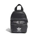 adidas 後背包 BP Mini PU 黑 白 女款 迷你包 三葉草 【ACS】 ED5882