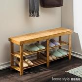 換鞋凳子可坐式家用床尾長條鞋櫃實木北歐進門口穿鞋架收納  新品全館85折  YTL