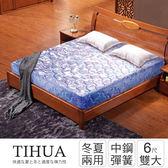 IHouse-經濟型 提花硬式高碳鋼彈簧床墊-雙大6x6.2尺