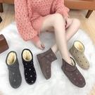 雪靴 短筒雪地靴女2020冬季新款平底百搭加絨保暖一腳蹬學生棉鞋小短靴 俏girl