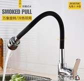 九牧王廚房水龍頭全銅萬向彎曲360度可旋轉洗菜盆軟管冷熱進水管魔方數碼