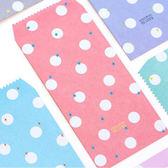 【BlueCat】TO LOVE愛的白色水玉點點長形中式信封(5入)