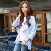 LIYO理優素色棉麻開襟領薄外套E718001
