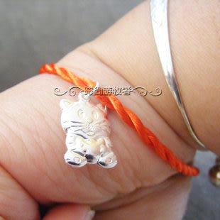925純銀生肖墜 本命年 虎 兔年 吉祥平安 屬相 搭配寶寶銀飾 紅繩